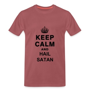 Keep Calm and Hail Satan - Men's Premium T-Shirt