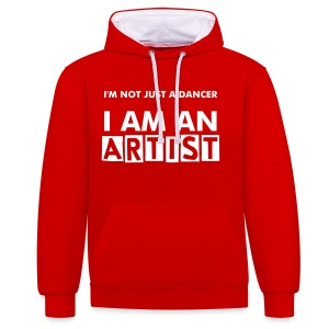 NEW! M/W Hoodie - Red/White - Contrast Colour Hoodie