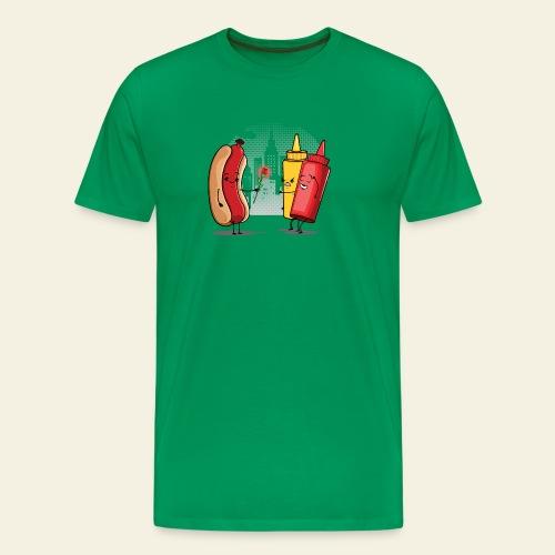 Romance Hot Dog et Ketchup - T-shirt Premium Homme