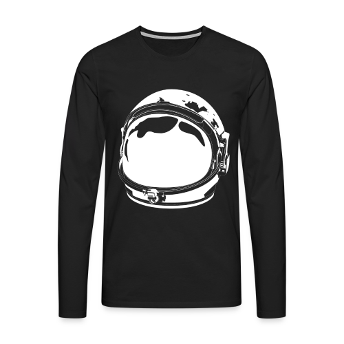 The White Cosmonaut (Men's premium long sleeve) - Men's Premium Longsleeve Shirt
