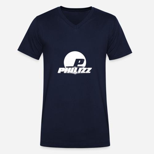 Philizz Men's V-Neck Shirt Blue - Men's Organic V-Neck T-Shirt by Stanley & Stella