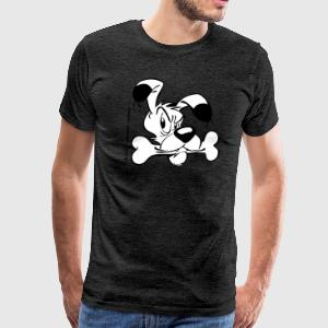 Asterix & Obelix - Idefix with bone Men's T-Shirt - Camiseta premium hombre