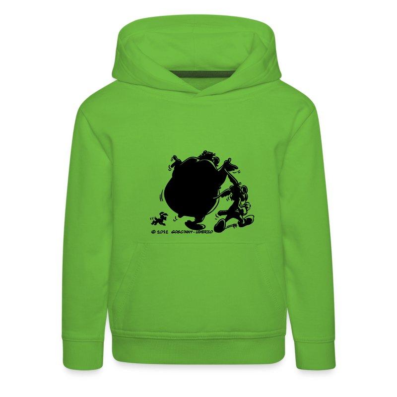 asterix obelix mit idefix schatten kinder kapuze hoodie spreadshirt. Black Bedroom Furniture Sets. Home Design Ideas