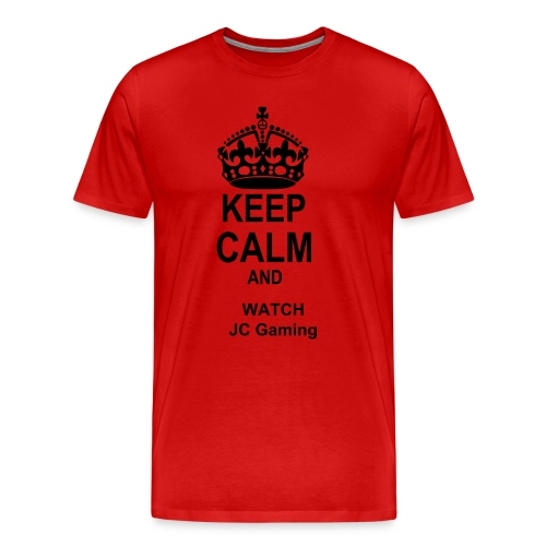 Mens Keep Calm and Watch JC Gaming - Men's Premium T-Shirt
