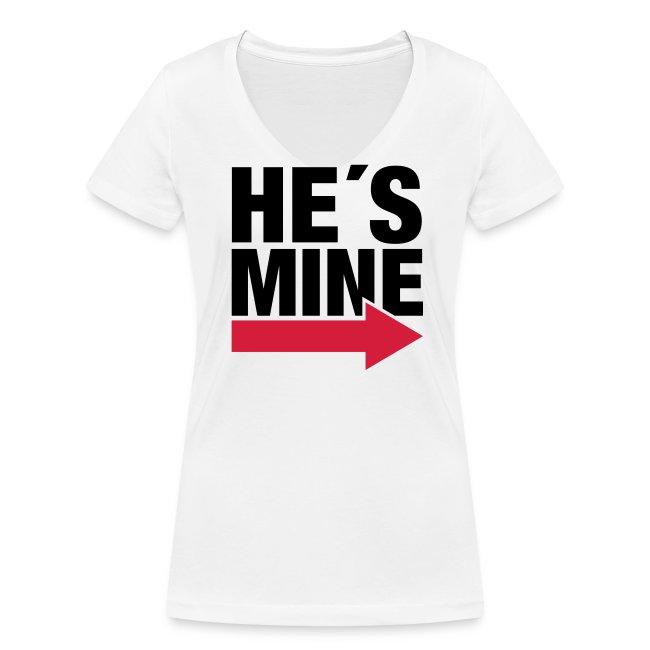 He's Mine Damen V-Shirt