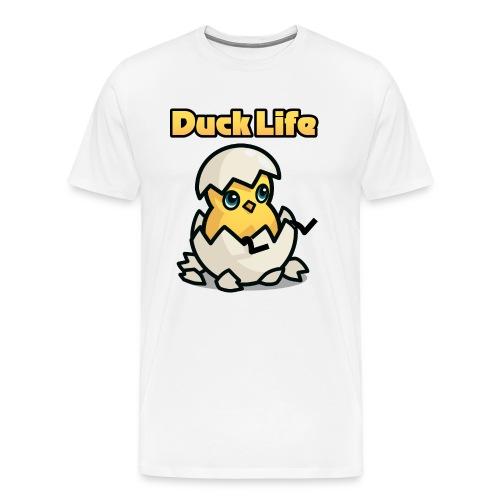 Duck Life Men's T-Shirt - White - Men's Premium T-Shirt