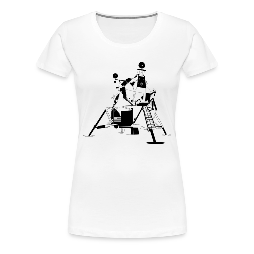 The First Flag V2 (Women's premium short) - Women's Premium T-Shirt