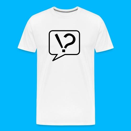 Interrobang - Männer T-Shirt - Männer Premium T-Shirt