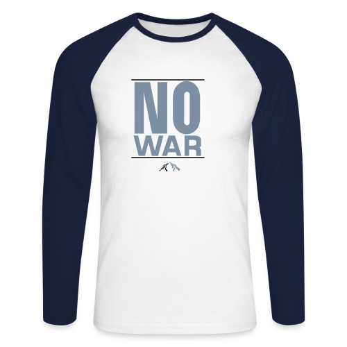 No War bla bla - Männer Baseballshirt langarm