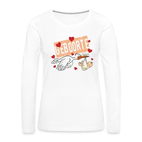 Baby geboorte - Women's Premium Longsleeve Shirt