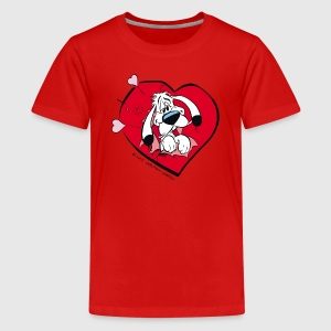 Asterix & Obelix - Idefix heart Teenager T-Shirt - Teenager Premium T-shirt