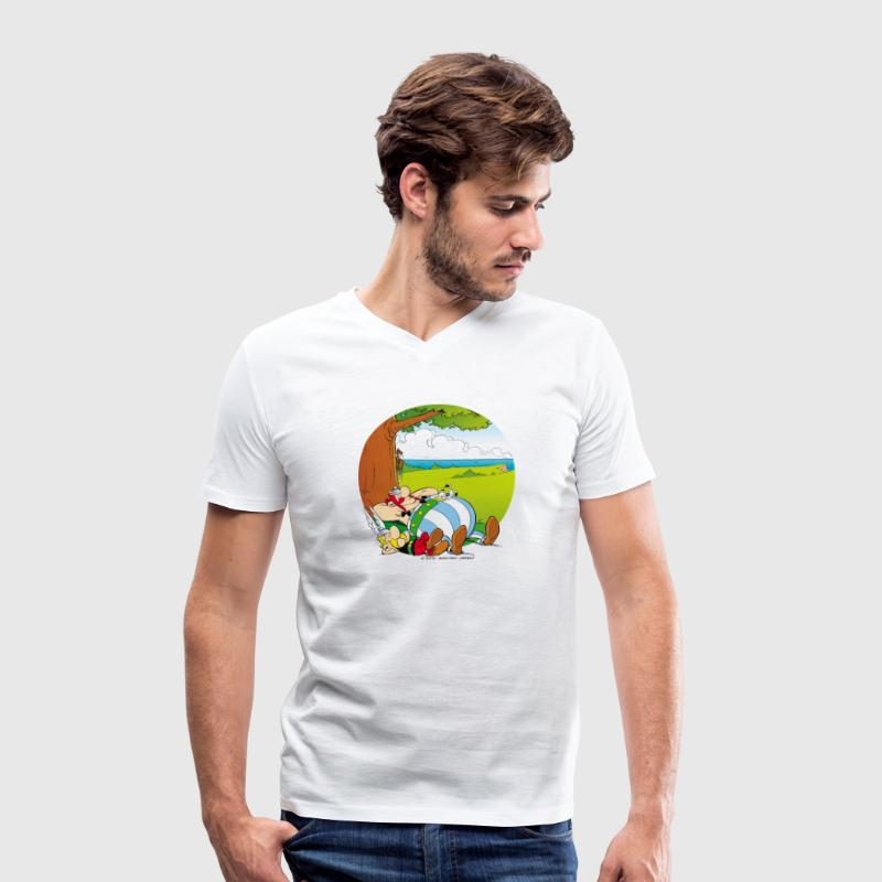 Asterix & Obelix sieste Tee shirt Homme - T-shirt Homme col V