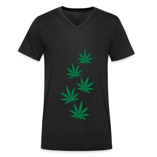 schwarzes t-shirt - Männer Bio-T-Shirt mit V-Ausschnitt von Stanley & Stella