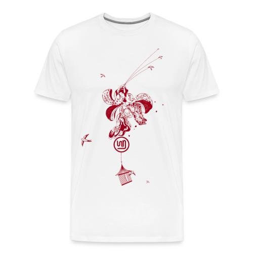 Flying Geisha - Männer Premium T-Shirt