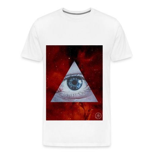 Blue Eyes Red Nebula - Men's Premium T-Shirt