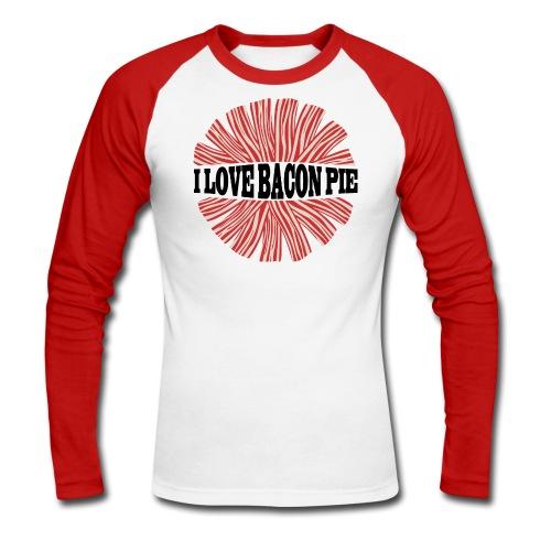 I LOVE BACON PIE - Baseballshirt - Männer Baseballshirt langarm