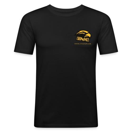 Viizion - T-Shirt mit URL - Männer Slim Fit T-Shirt