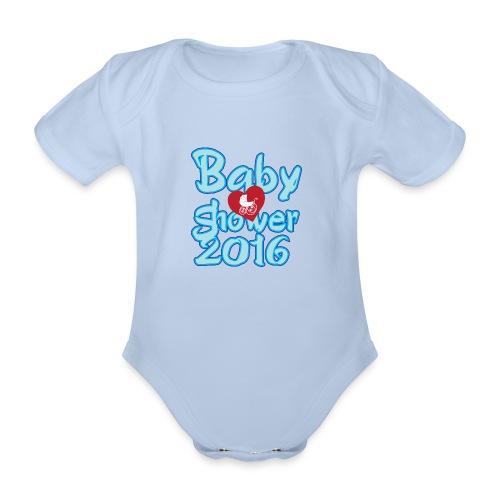 Baby shower 2016 Boy! - Organic Short-sleeved Baby Bodysuit
