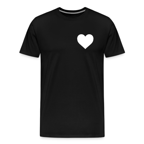 'Heart' Tee in Black - Men's Premium T-Shirt