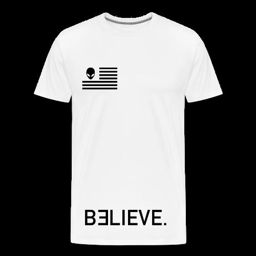 BELIEVE. Tee in White - Men's Premium T-Shirt