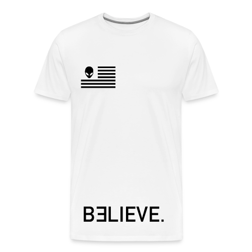 BELIEVE. Tee in White - Men's Premium T-Shirt