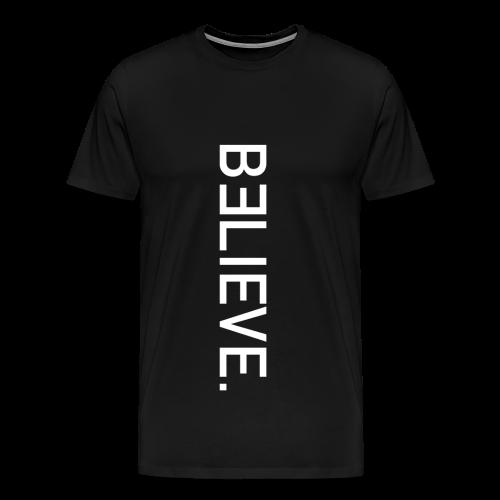BELIEVE. Upwards Tee in Black - Men's Premium T-Shirt