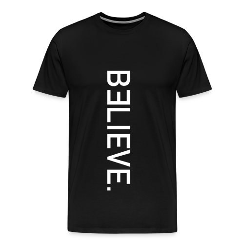 BELIEVE. Upwards Tee in Black - Men's Premium T-Shirt