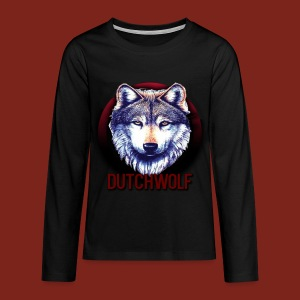 DutchWolf Lange Mouwen Teenager T-shirt+Logo - Teenager Premium shirt met lange mouwen