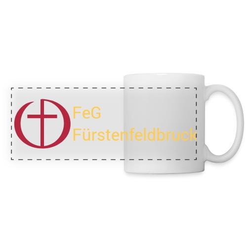 Tasse Weiß mit Logo - Panoramatasse