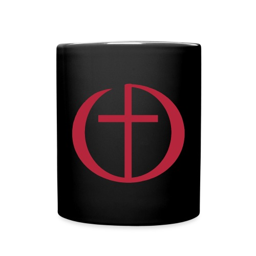Tasse Schwarz mit Logo - Tasse einfarbig