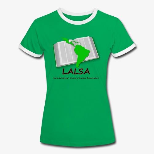 LALSA Woment's 'Ringer' T-Shirt w/Dark Lettering - Women's Ringer T-Shirt