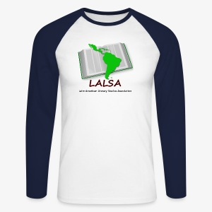 LALSA Longsleeve 'Baseball' Jersy w/Dark lettering - Men's Long Sleeve Baseball T-Shirt