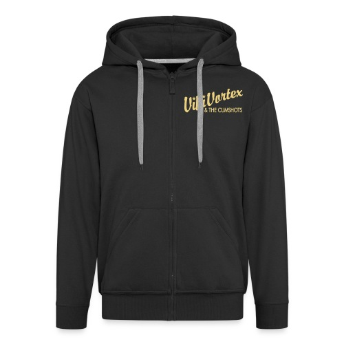 Black Zippy New Logo - Men's Premium Hooded Jacket