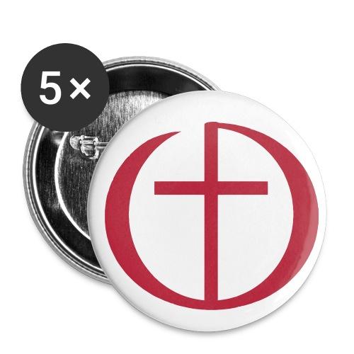 Buttons mit Logo (5 Stück) - Buttons mittel 32 mm