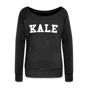 Women's KALE Sweatshirt Scoop Neck - Women's Boat Neck Long Sleeve Top
