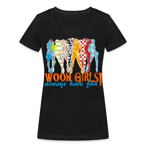 Wooh-Girls - Frauen Bio-T-Shirt mit V-Ausschnitt von Stanley & Stella