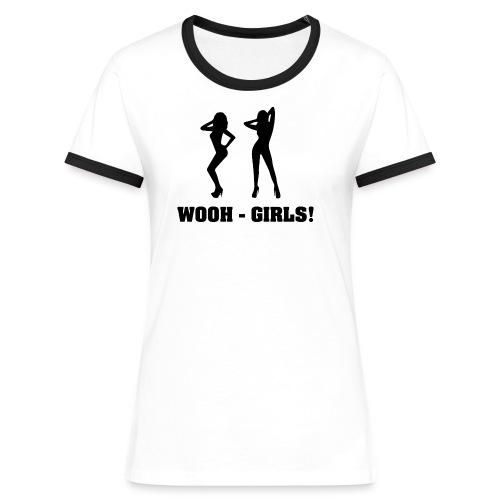 Wooh-Girls - Frauen Kontrast-T-Shirt