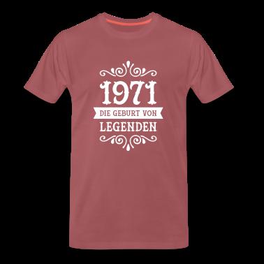 1971 die geburt von legenden t shirts t shirt spreadshirt. Black Bedroom Furniture Sets. Home Design Ideas