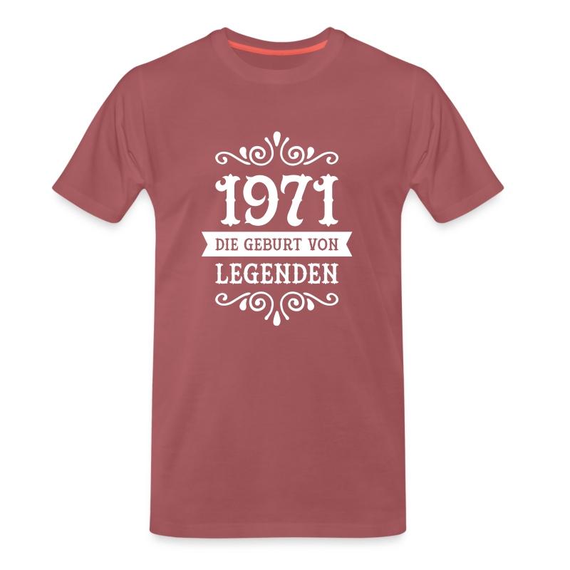 1971 die geburt von legenden t shirt spreadshirt. Black Bedroom Furniture Sets. Home Design Ideas