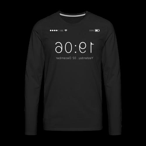 'Backwards' Longsleeve In Black - Men's Premium Longsleeve Shirt