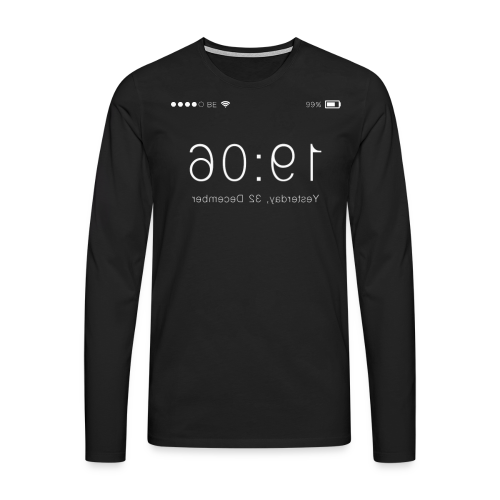 'Backwards' Longsleeve In Black - Men's Premium Longsleeve Shirt