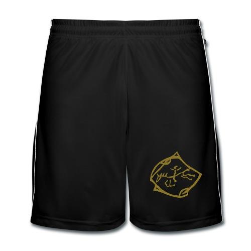 Free Rider, Men Short ( Print: Gold) - Männer Fußball-Shorts