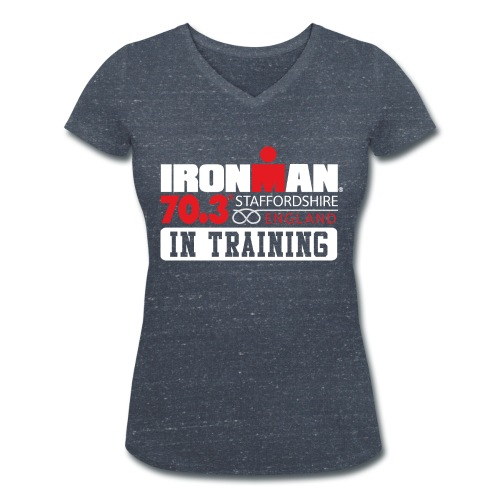IRONMAN 70.3 Staffordshire In Training Women's V-neck  - Women's Organic V-Neck T-Shirt by Stanley & Stella