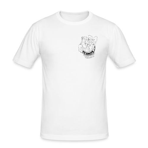 Male Slim Fit White - slim fit T-shirt