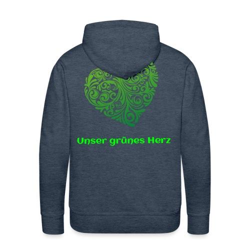 Unser grünes Herz Pulli - Männer Premium Hoodie