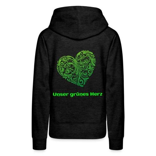 Unser grünes Herz Pulli  - Frauen Premium Hoodie