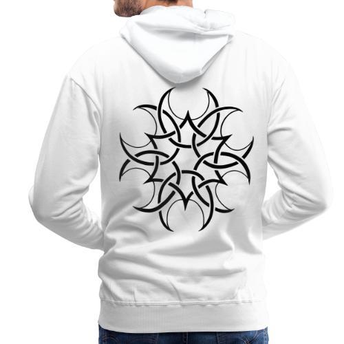 crop circle - Sweat-shirt à capuche Premium pour hommes