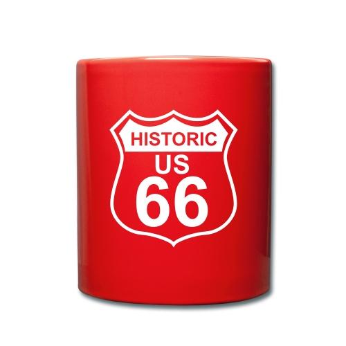 Keramiktasse Historic US 66 - Tasse einfarbig