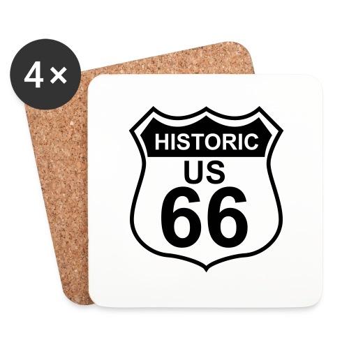 Untersetzer Historic US 66, 4er-Set - Untersetzer (4er-Set)