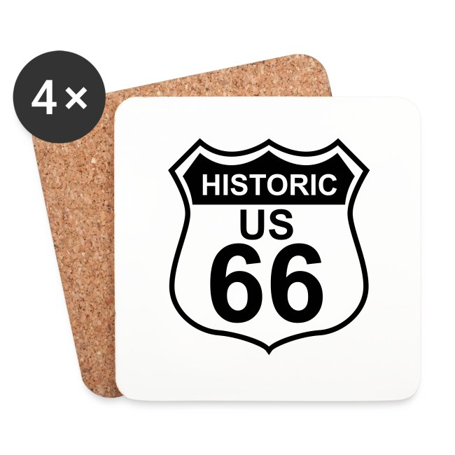 Untersetzer Historic US 66, 4er-Set